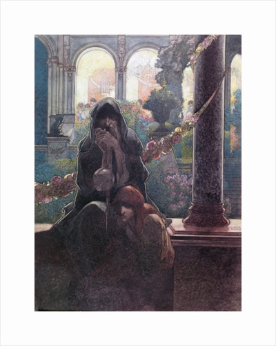 'The rich making merry in their beautiful houses while the beggars were sitting at the gates' by Charles Robinson