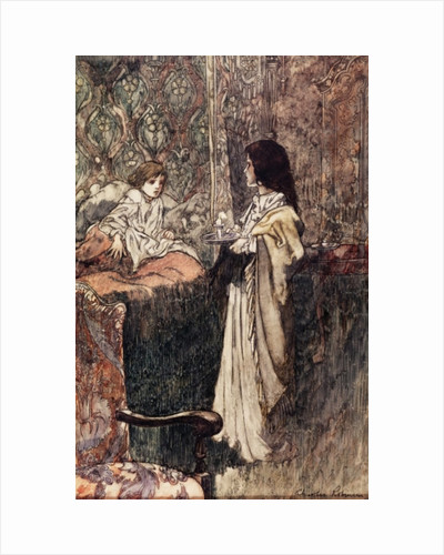 Children Talking at Night by Charles Robinson