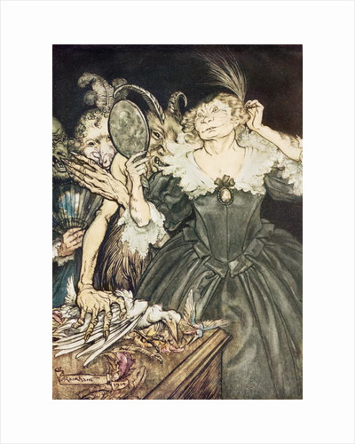 """Comus by John Milton: """"And they, so perfect is their misery"""" by Arthur Rackham"""