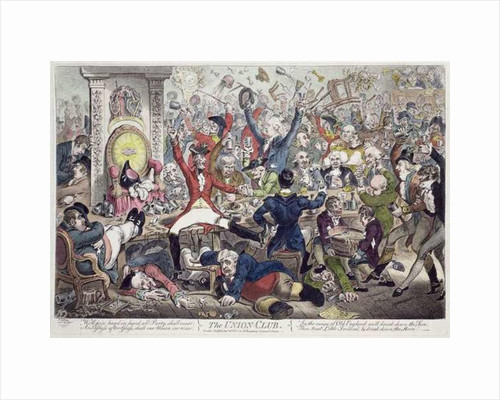 The Union Club, 1801 by James Gillray