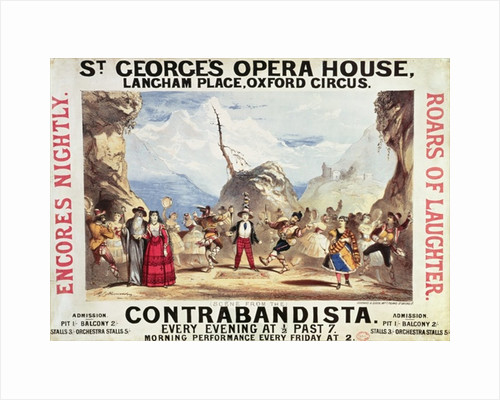 Poster advertising St.George's Opera House by English School