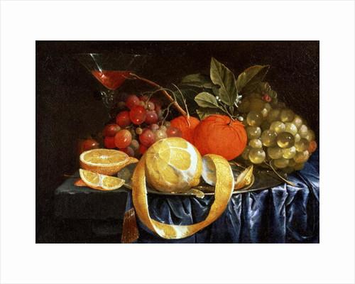 Still Life of Grapes, Oranges and a Peeled Lemon by Jan Pauwel the Elder Gillemans