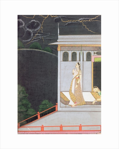 Lady waiting for her lover by Indian School