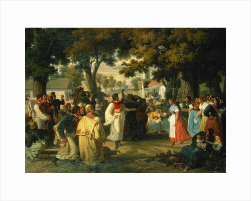 Belle of the Village is asked for a Dance by Janos Janko
