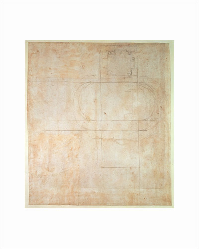 Architectural Drawing by Michelangelo Buonarroti