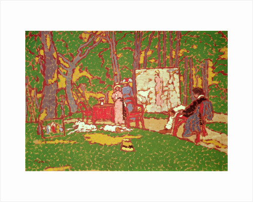 Painting Lazarine and Anella in the Park. It's Hot by Jozsef Rippl-Ronai