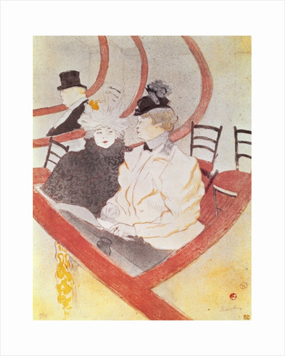 The Grande Loge by Henri de Toulouse-Lautrec