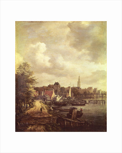 View of Amsterdam by Jacob Isaaksz. or Isaacksz. van Ruisdael