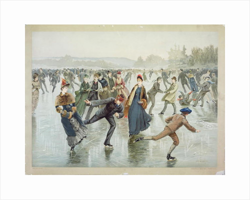 Skating, published by L. Prang and Co. by Henry Sandham