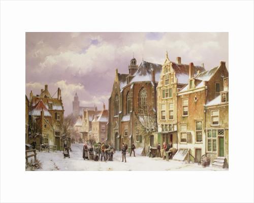 Snow in Amsterdam by Willem Koekkoek