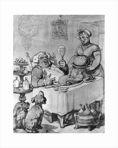 A Good Meal by Thomas Rowlandson