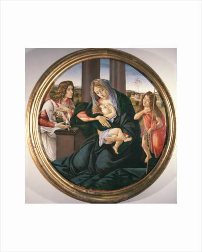 Madonna and Child with St.John the Baptist and an Angel by Sandro Botticelli