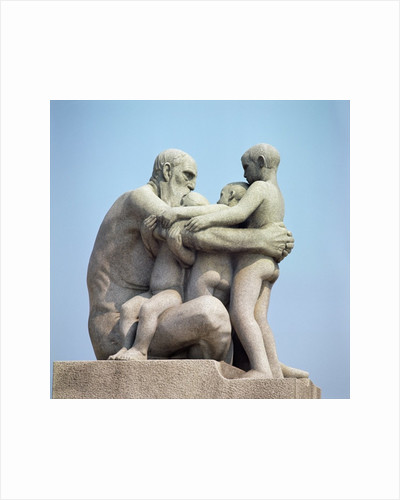 Old Man Embracing Four Young Boys by Gustav Vigeland