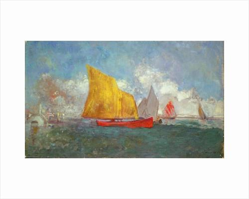Yachts in a Bay by Odilon Redon