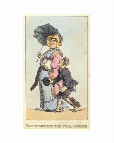Pray Remember the Poor Sweeper by Thomas Rowlandson