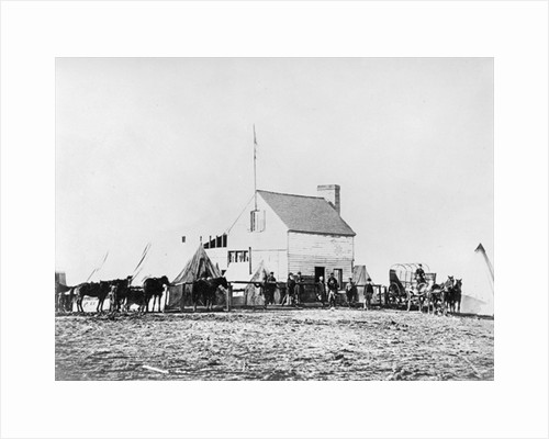 Headquarters of Sanitary Commission, Brandy Station, Virginia by American Photographer