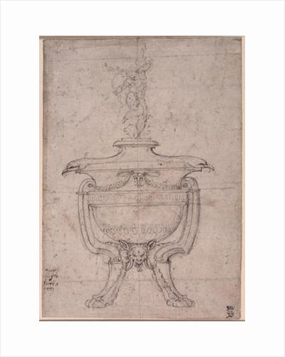 Study of a decorative urn by Michelangelo Buonarroti