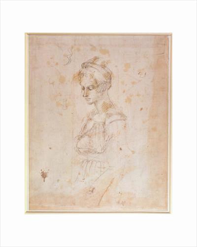W.41 Sketch of a woman by Michelangelo Buonarroti
