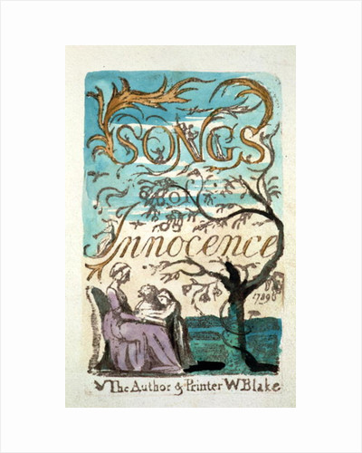 Songs of Innocence, title page by William Blake