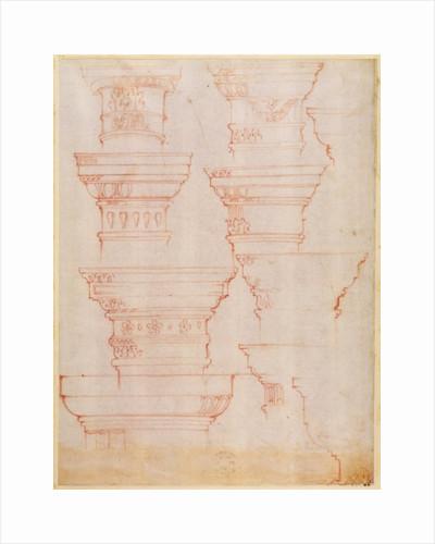 W.18v Study of column capitals by Michelangelo Buonarroti
