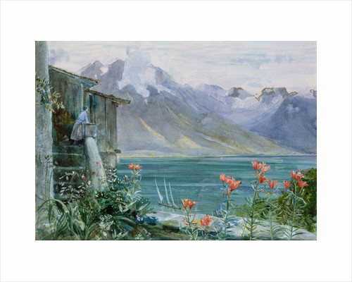 Ferritet, Lake Geneva by John William Inchbold