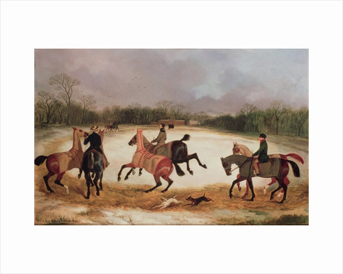 Grooms exercising racehorses by David of York Dalby