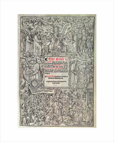 Titlepage introducing English translation of the Great Bible by English School