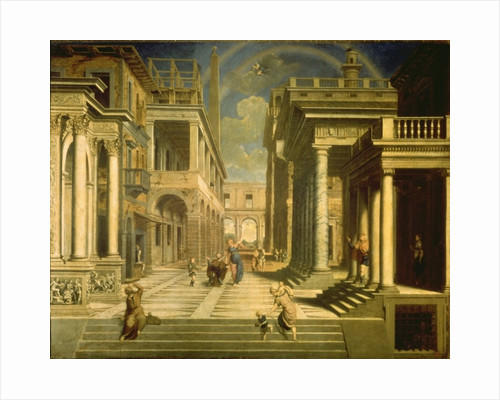 Emperor Augustus and the Sibyl by Paris Bordone