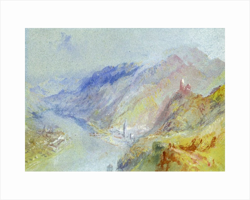 The Castle of Trausnitz overlooking Landshut by Joseph Mallord William Turner