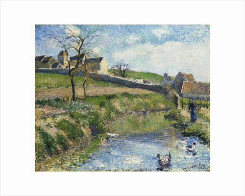 The Farm at Osny by Camille Pissarro