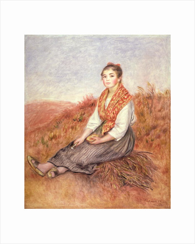 Woman with a bundle of firewood by Pierre Auguste Renoir