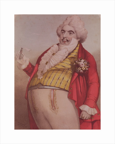 Signor Lablache as Dr. Dulcamara, the quack doctor in the opera 'The Elixir of Love' by Gaetano Donizetti by English School