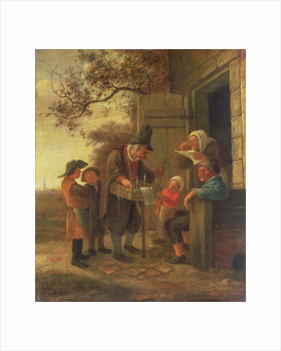 A Pedlar selling Spectacles outside a Cottage by Jan Havicksz. Steen