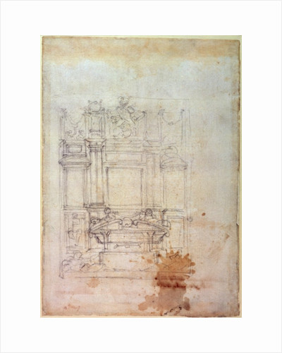 Design for a tomb by Michelangelo Buonarroti