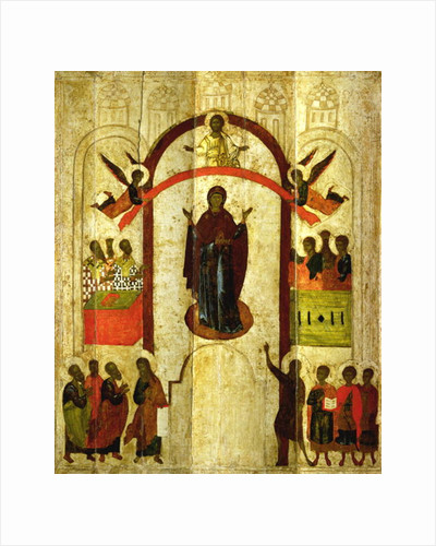 The Protection of the Theotokos (Mother of God) by Novgorod School