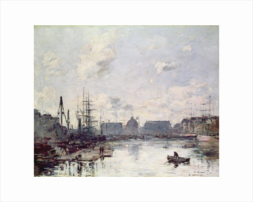 The Port of Trade, Le Havre by Eugene Louis Boudin