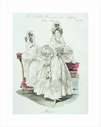 Wedding dress by French School