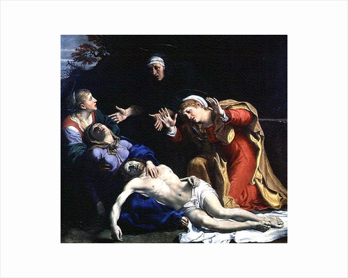 The Dead Christ Mourned by Annibale Carracci