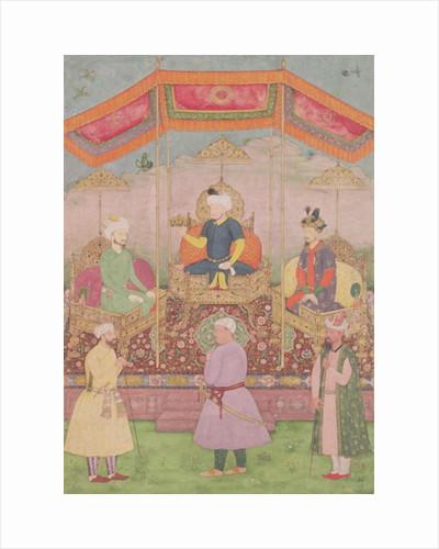 Mughal Emperor Babur and his son, Humayan by Dip Chand