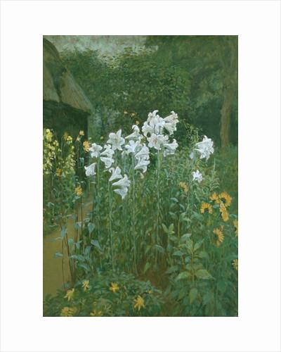 Madonna Lilies in a Garden by Walter Crane