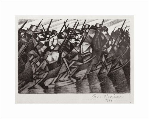 Troops returning to the Trenches, 1916 by Christopher Richard Wynne Nevinson