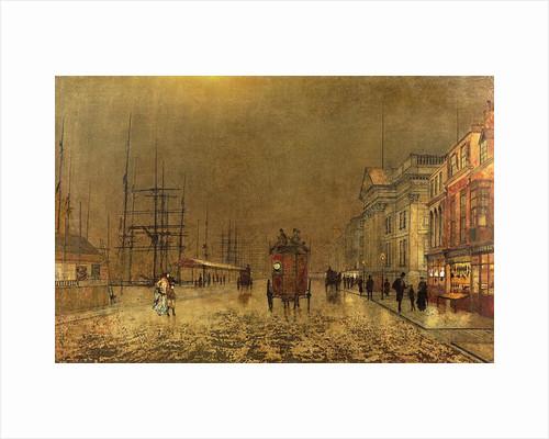 A Liverpool Street by John Atkinson Grimshaw