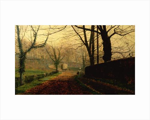 Autumn Sunshine, Stapleton Park near Pontefract by John Atkinson Grimshaw