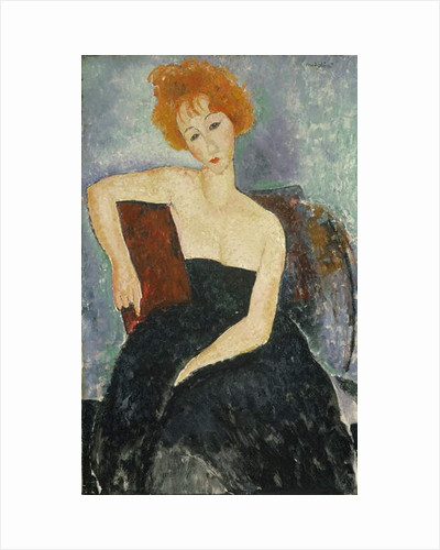 Redheaded Girl in Evening Dress, 1918 by Amedeo Modigliani