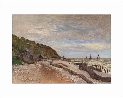 Boatyard Near Honfleur; Le Chantier de Petits Navires, pres de Honfleur, 1864 by Claude Monet