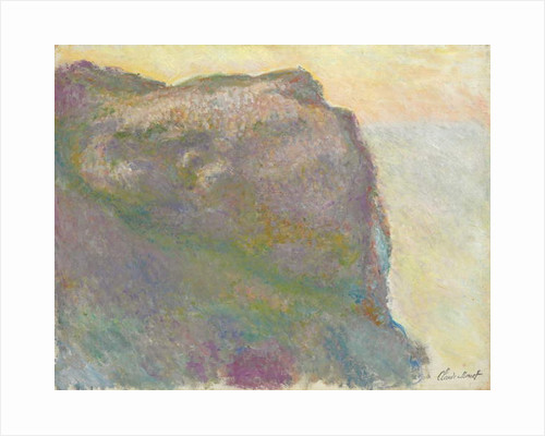 On the Cliff, Petit D'Ailly by Claude Monet