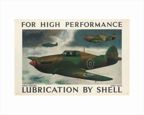 For High Performance Lubrication by Shell, an advertising poster by Robert Buhler