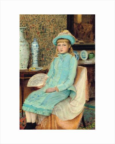 Blue Belle, 1877 by John Atkinson Grimshaw