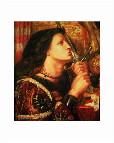 Joan of Arc kissing the Sword of Deliverance, 1863 by Dante Gabriel Charles Rossetti