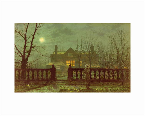 A lady in a garden by moonlight, 1882 by John Atkinson Grimshaw